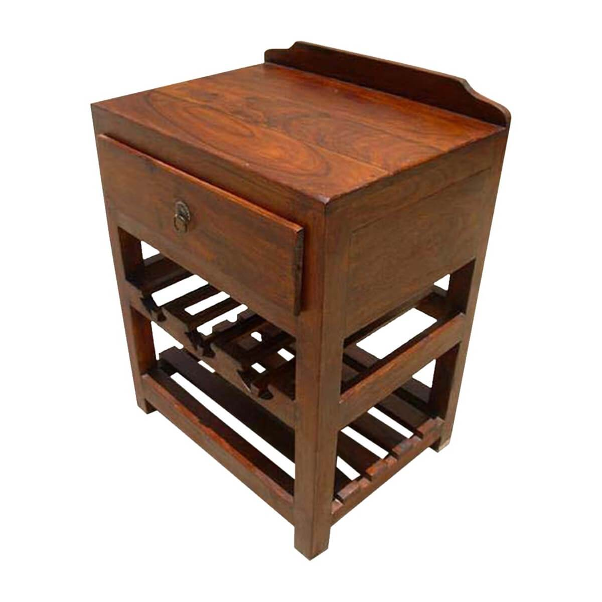 Amazing photo of  Bar Cabinets Wood Wine Rack Liquor Storage Drawer Shelves Side Table with #B27F19 color and 1200x1200 pixels