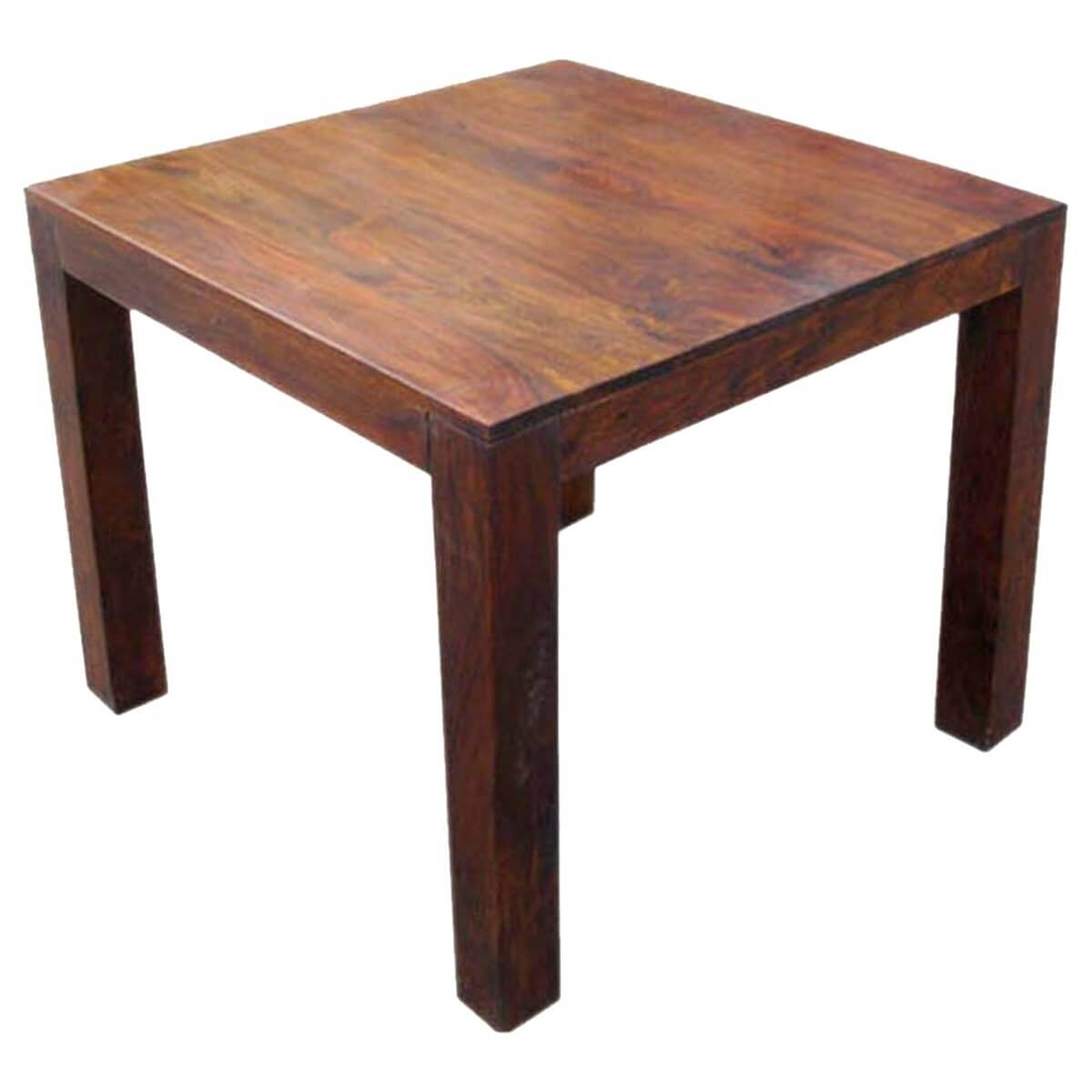 Kluane contemporary solid wood square dinette dining table for Solid wood dining table