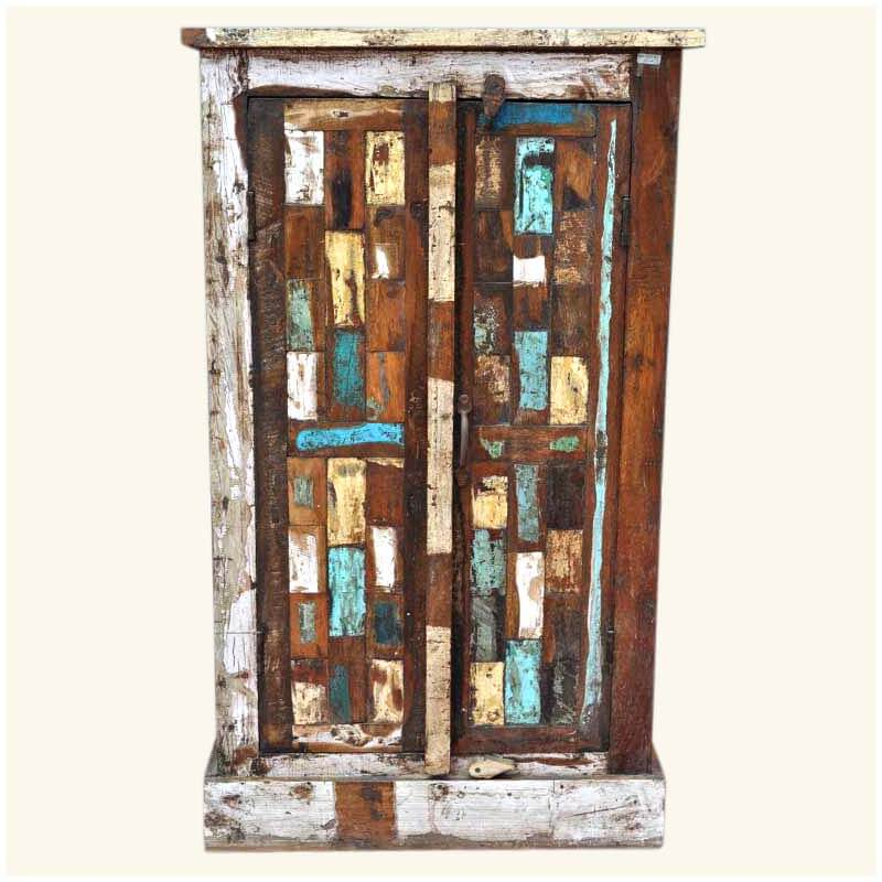 Distressing Kitchen Cabinets: Rustic Patch Quilt Distressed Kitchen Cabinet