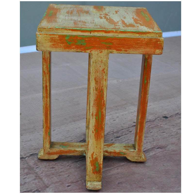 Appalachian rustic reclaimed wood distressed end table
