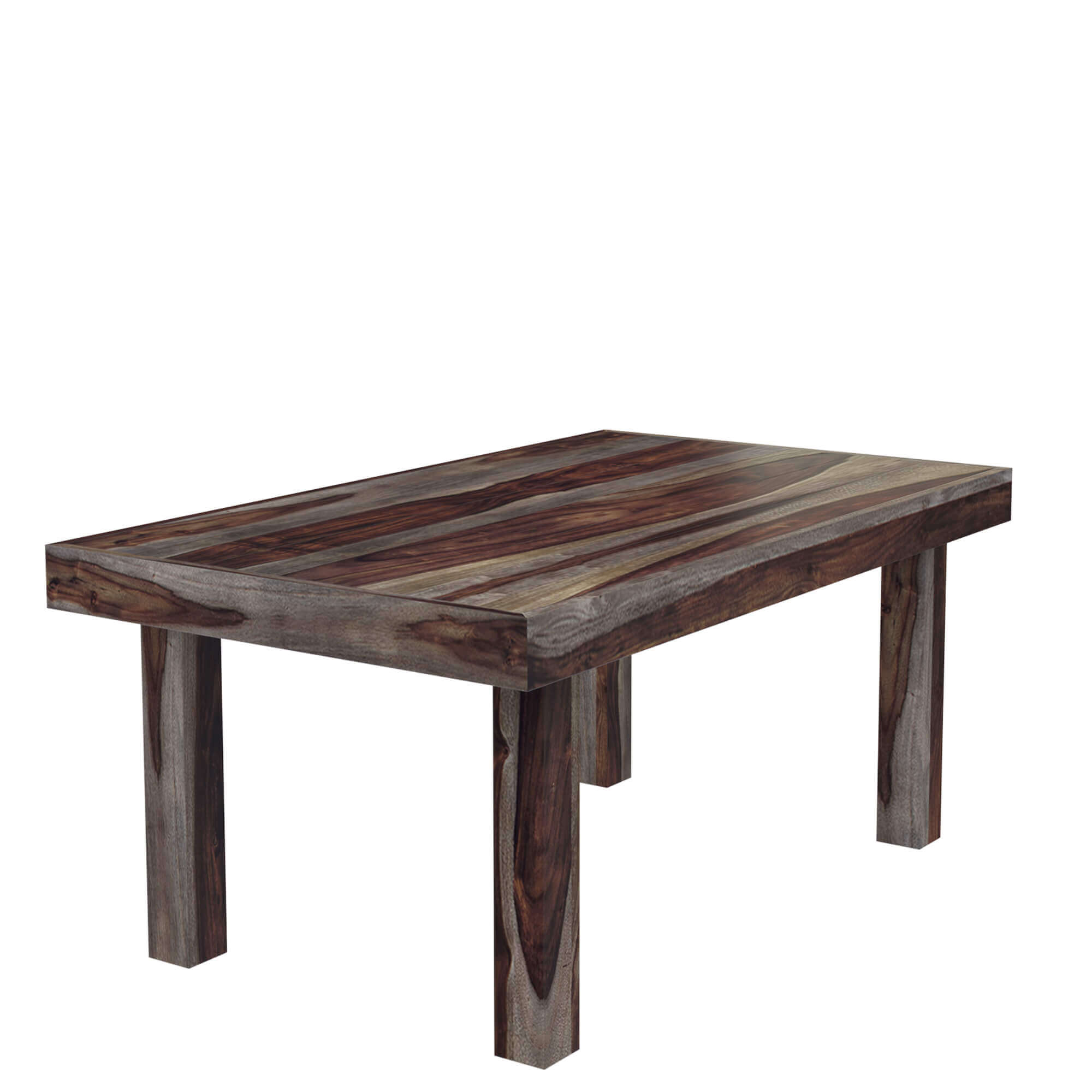 Frisco modern solid wood rectangular rustic dining room table for Modern dinning room table