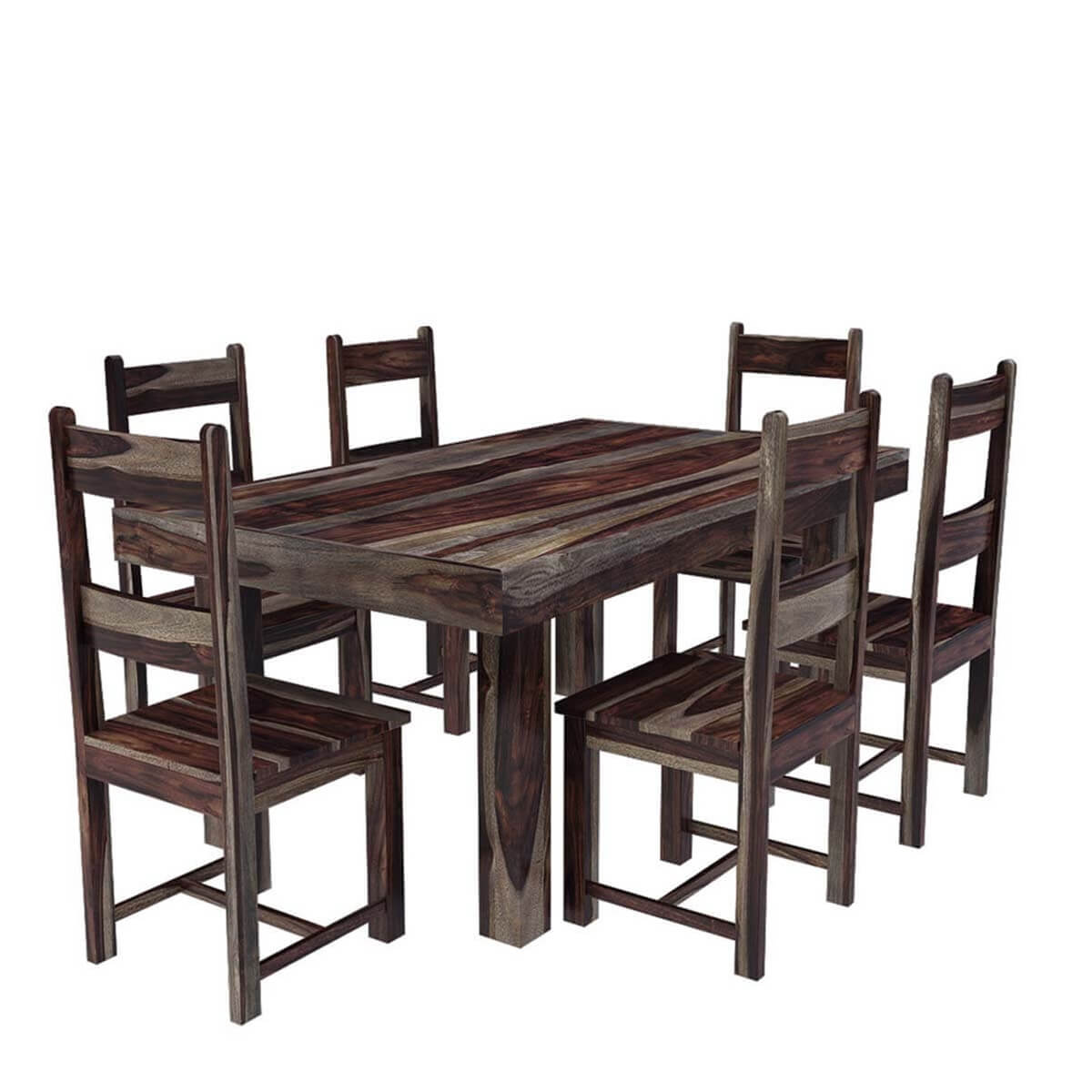 70 Solid Wood Dallas Ranch Rectangular Dining Room Table For 6 People