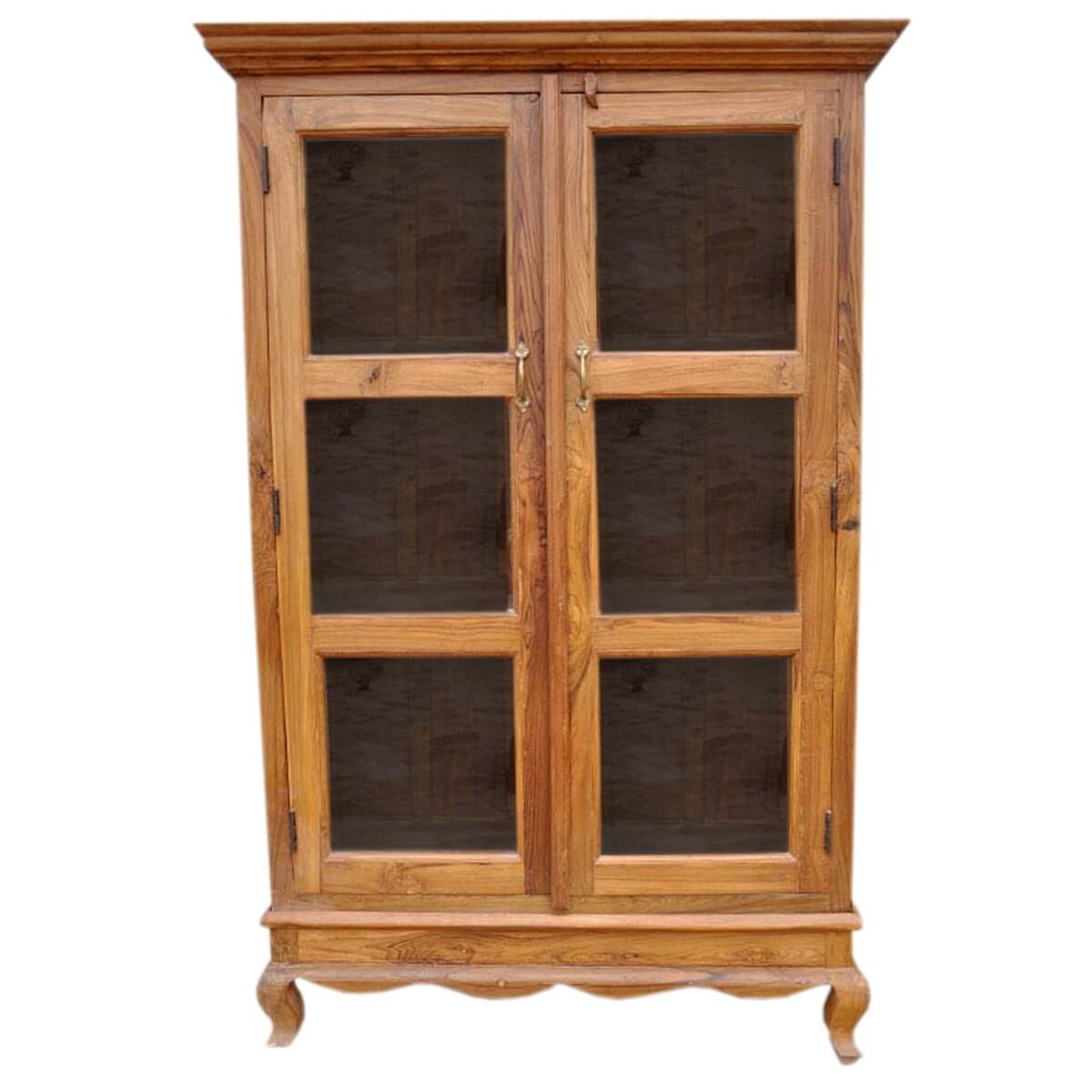 Wooden bookshelf with glass doors the for Wood bookcase with doors