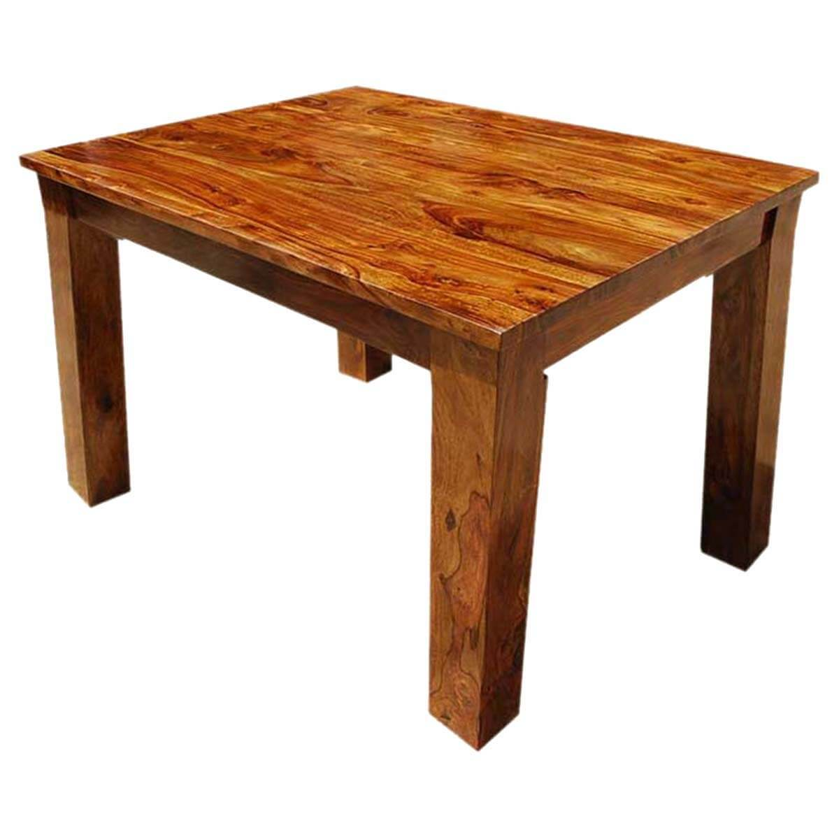 Solid wood rectangle cariboo mission dining room table for Hardwood dining table