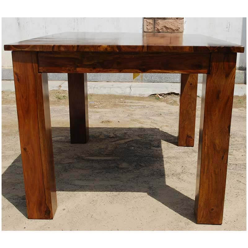 solid wood rectangle cariboo mission dining room table