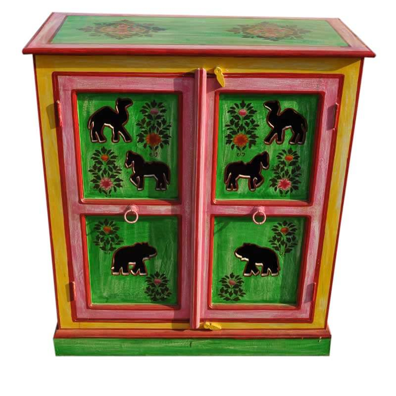 Hand Painted Kitchen Cabinets: Caledonia Handpainted Solid Wood Kitchen Storage Cabinet