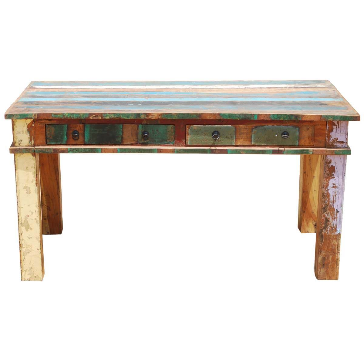 p reclaimed wood 6 seater rustic dining room table furniture