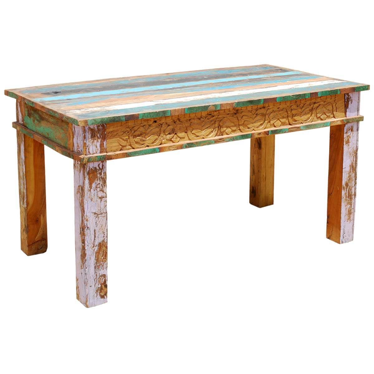 Reclaimed wood rustic dining room table furniture for Rustic dining room table