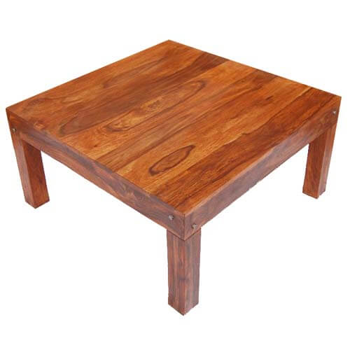 rustic hand made cocktail sofa solid wood square coffee table