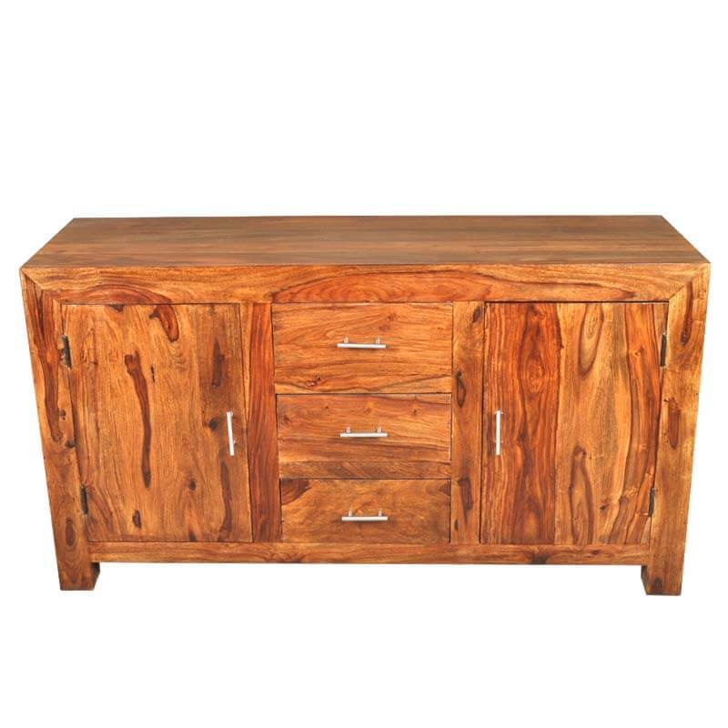 Santa cruz rustic solid wood drawer sideboard