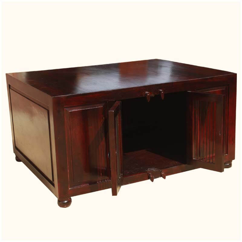 Boston Harmony Indian Rosewood Cabinet Coffee Table