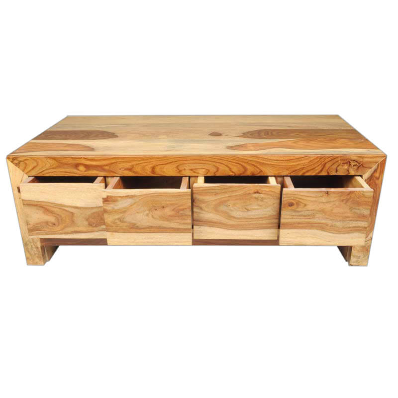 Solid wood contemporary coffee table with storage drawer Contemporary coffee tables with storage