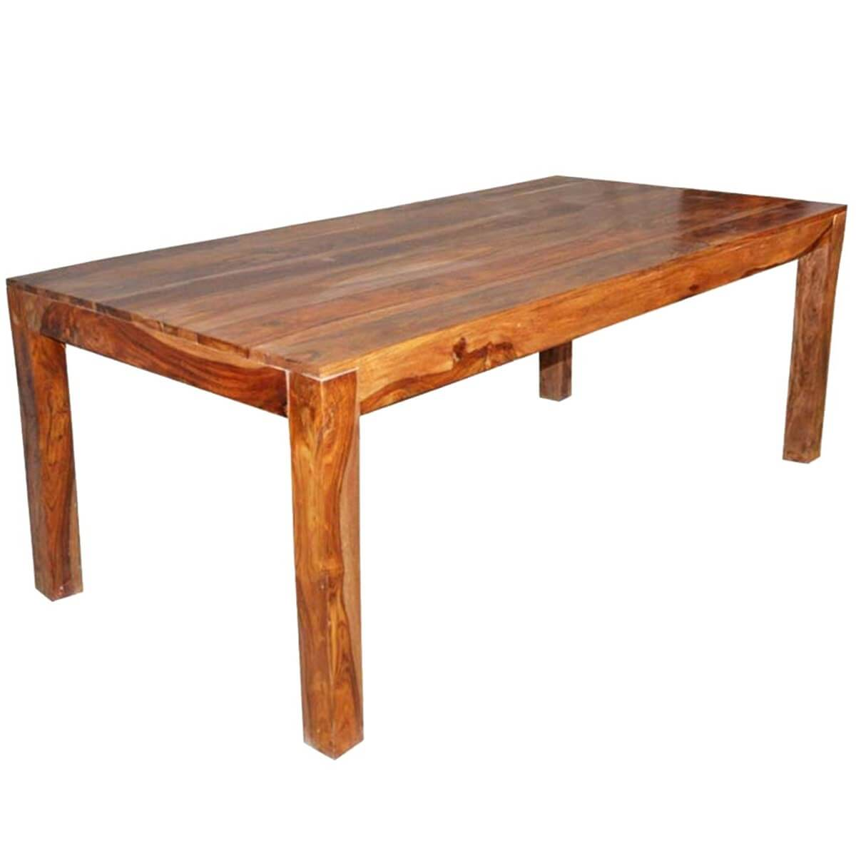 Kluane Simplicity Contemporary Solid Wood Dining Table : 3541 from sierralivingconcepts.com size 1200 x 1200 jpeg 211kB