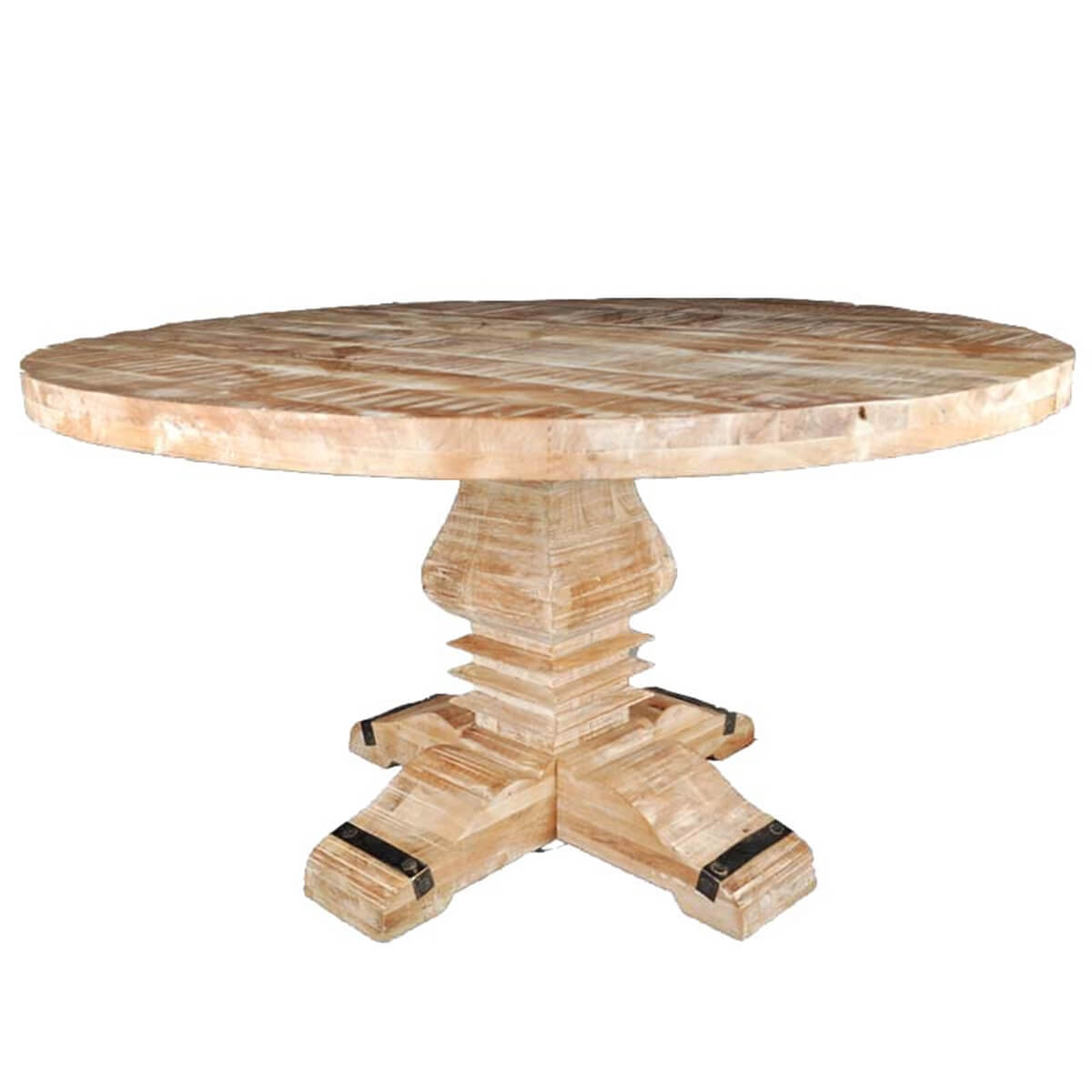 Rustic Mango Wood Pedestal Round Dining Table : 35704 from www.sierralivingconcepts.com size 1200 x 1200 jpeg 246kB