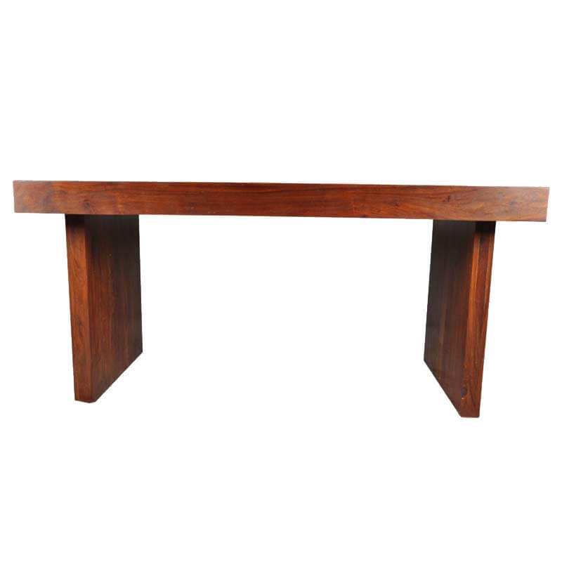 Contemporary sierra contemporary mango wood bench dining table