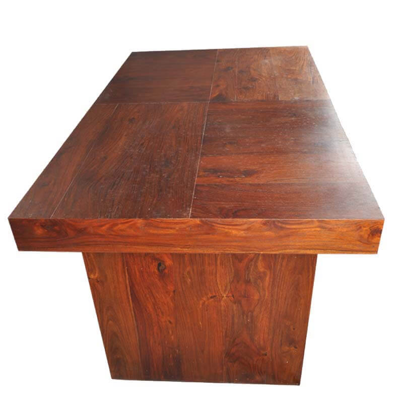 Sierra Contemporary Mango Wood Bench Dining Table