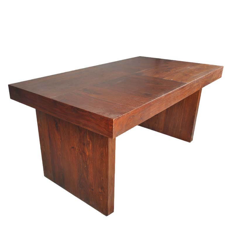 Contemporary Sierra Mango Wood Bench Dining Table
