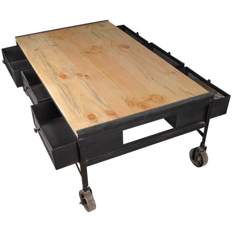 Industrial Iron & Tropical Hardwood 6drawer Rolling. Hooker Office Desk. Queen Anne Dining Table. Desk Risers For Standing Desk. Lab Tables. Poker Table Dimensions. Writing Desk Images. Parsons Desk White. Folding Side Table
