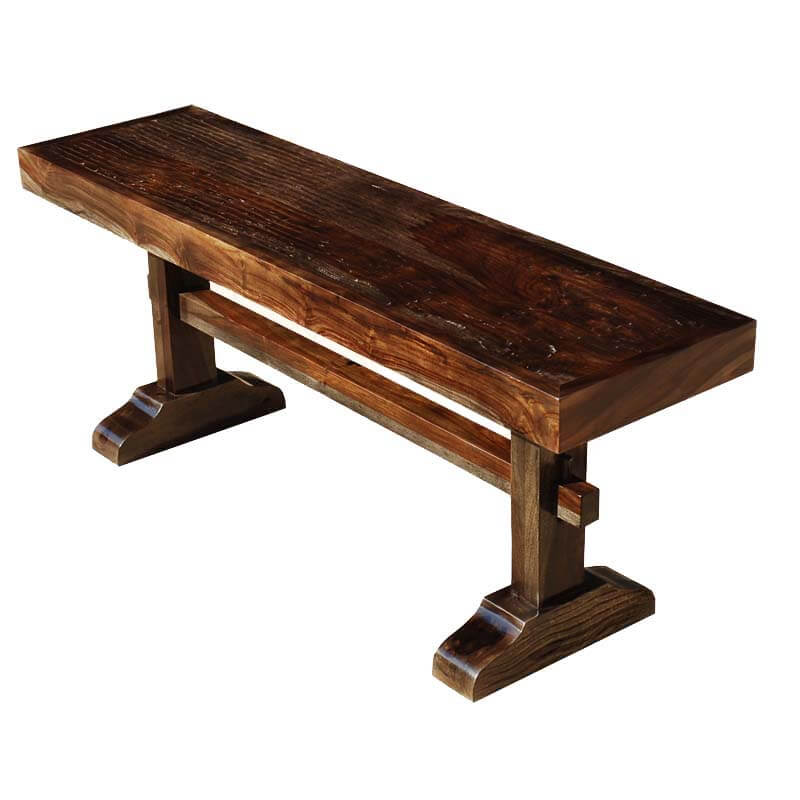 Amish trestle solid wood rustic bench Oak bench