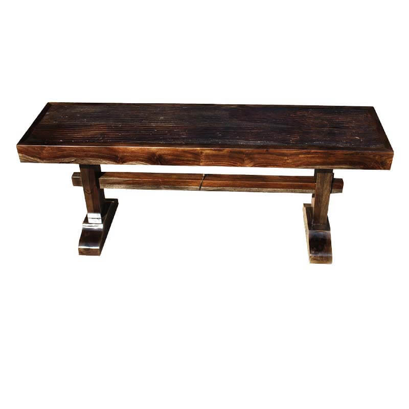 Amish Trestle Solid Wood Rustic Bench