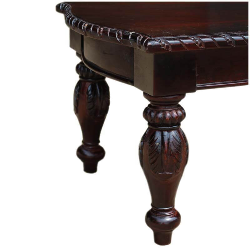 American Empire Wooden Hand Carved Ornate Coffee Table