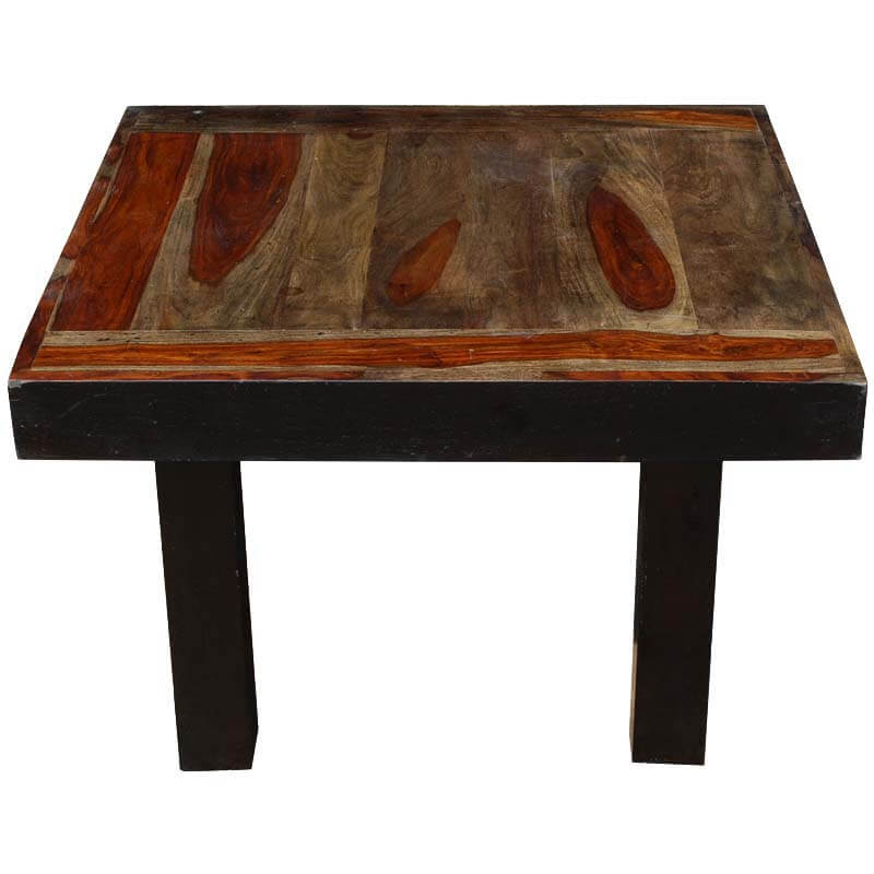 Mocha Square Blocky Solid Indian Rosewood Coffee Table