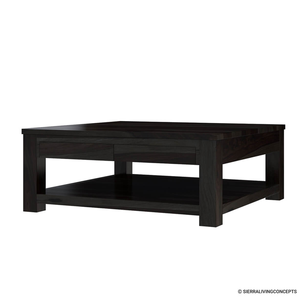 Square Coffee Table: Large Rosewood Classic Square Espresso Coffee Table