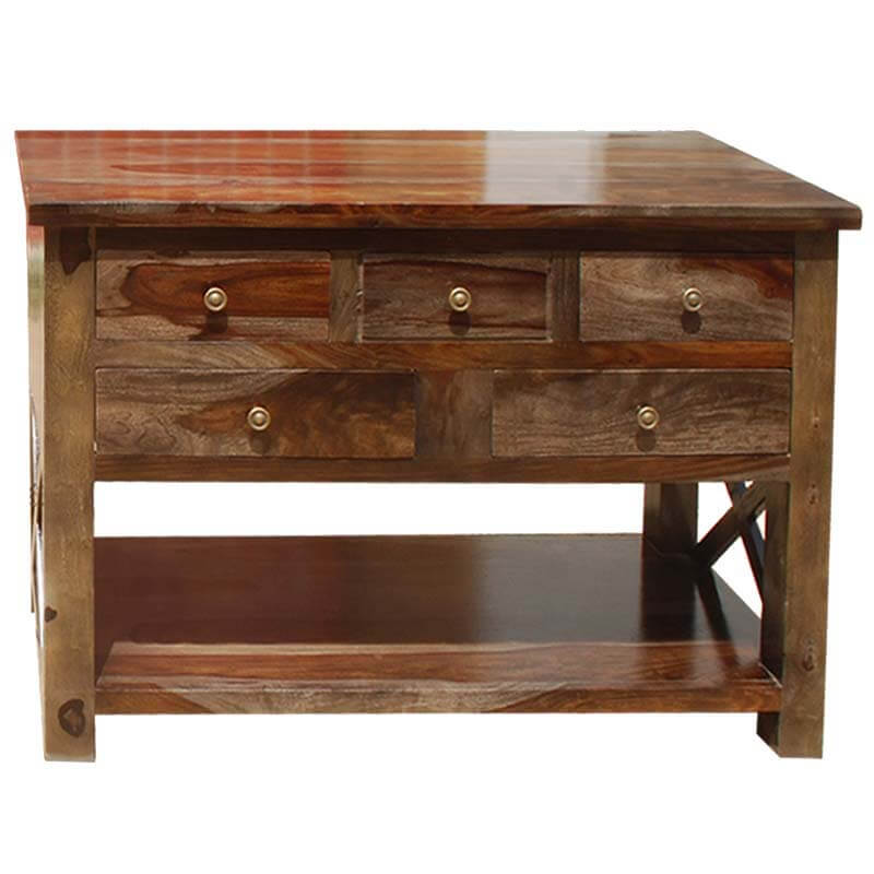 Wood Storage Console Tables ~ Portland solid wood storage drawer console foyer table