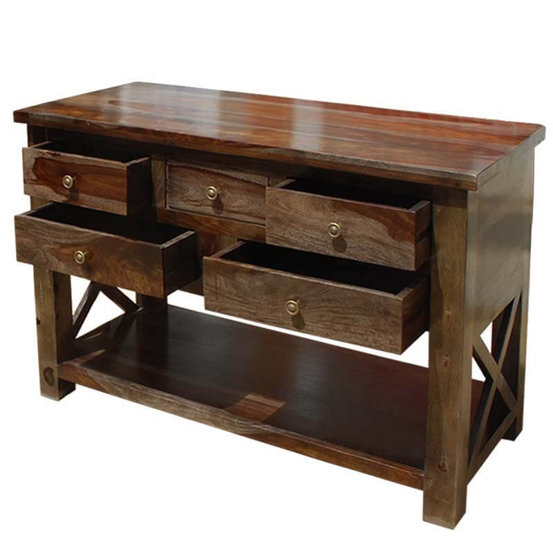 Foyer Table Drawers : Portland solid wood storage drawer console foyer table