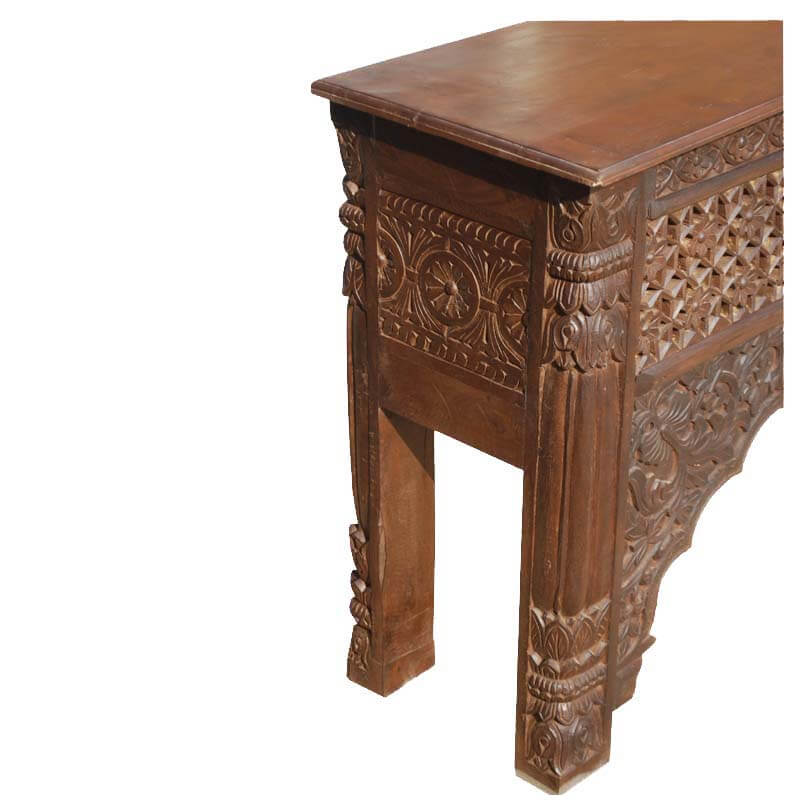 Hand Carved Console Table ~ New delhi hand carved palace arch console table