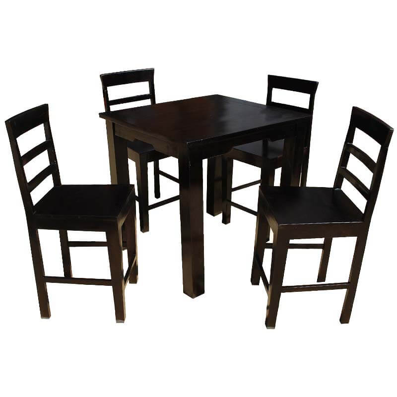 sets solid wood counter height dining table chairs set for 4 people