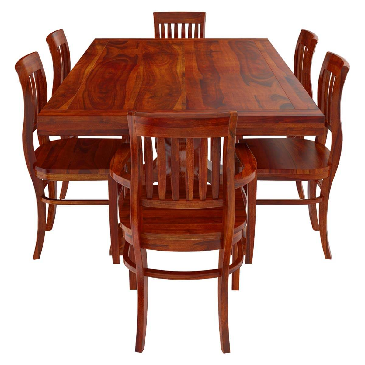 Solid wood 7 piece trestle pedestal dining table barrel back chairs Trestle dining table
