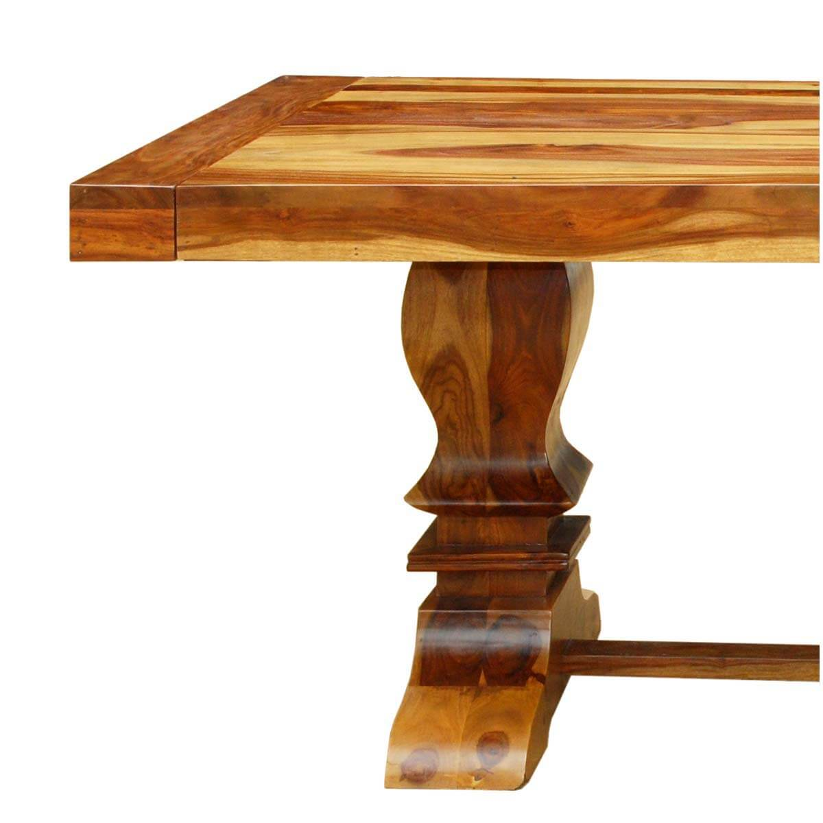 Trestle Extension Dining Table: Dallas Ranch Trestle Pedestal Extendable Dining Table