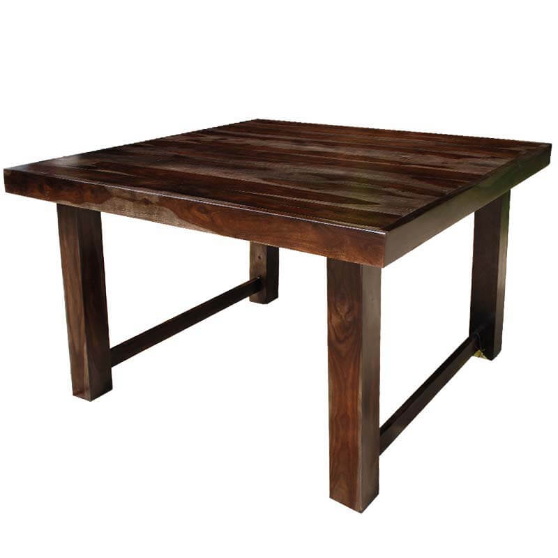 solid wood counter height 64 quot square dining room table for