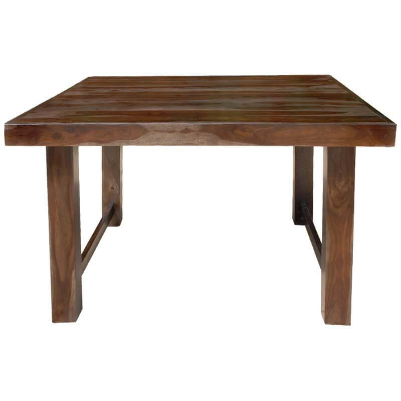 Solid wood counter height 64 square dining room table for for Dining room table 6 person