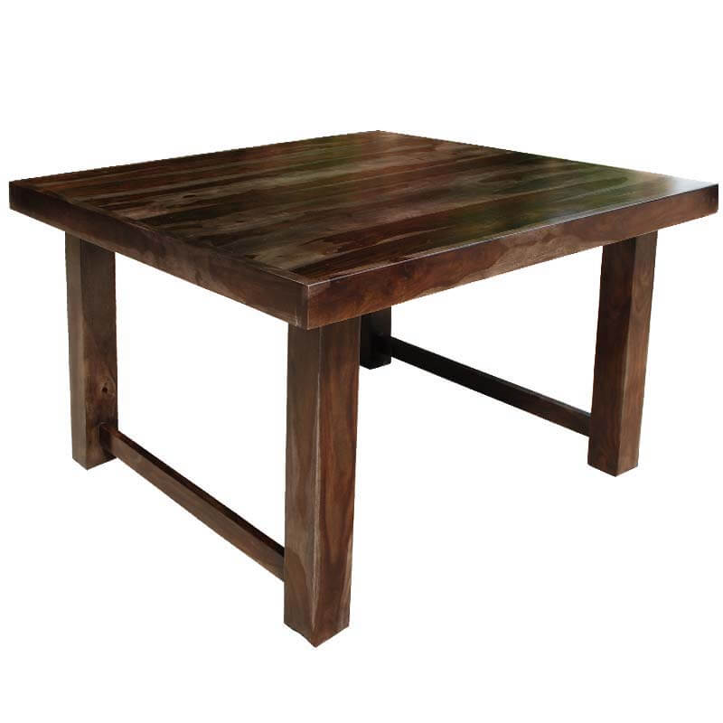 Solid wood counter height 64 square dining room table for for 6 person dining room table