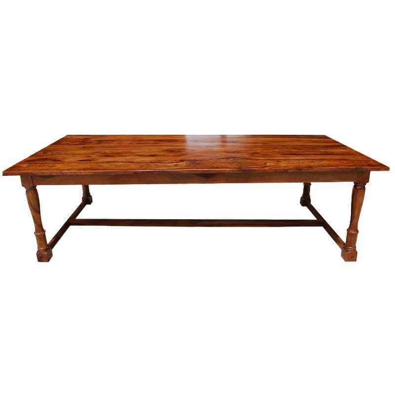 Portland early american solid wood large dining table for Dining room tables portland or