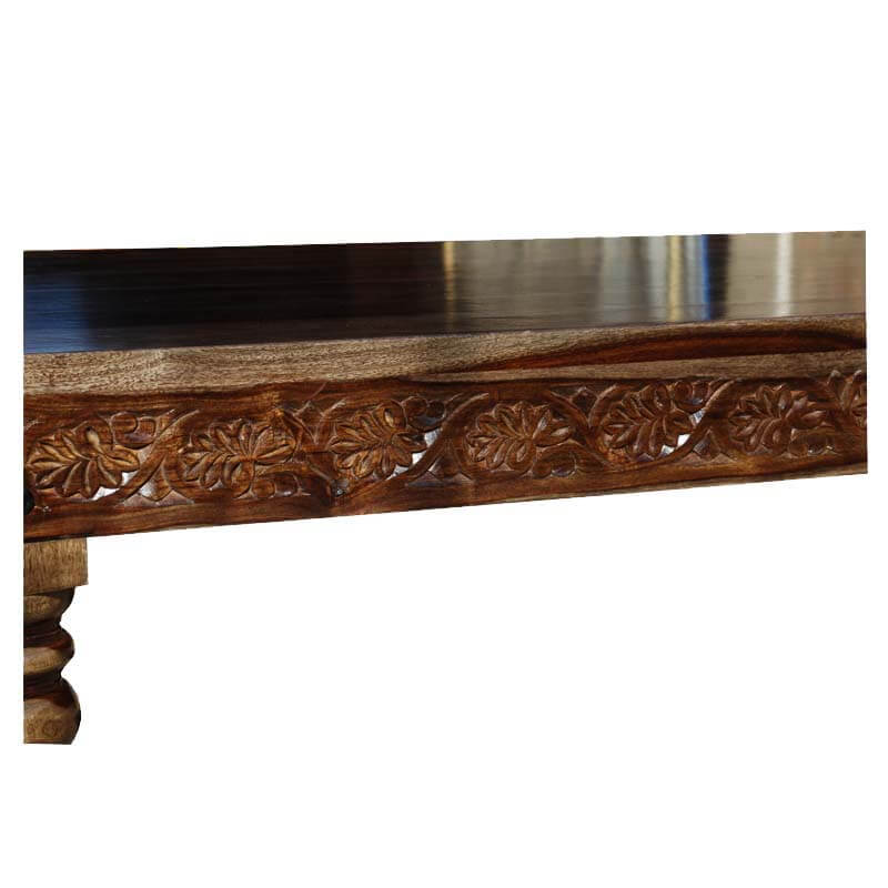 dining tables langley hand carved solid wood marbleized dining table