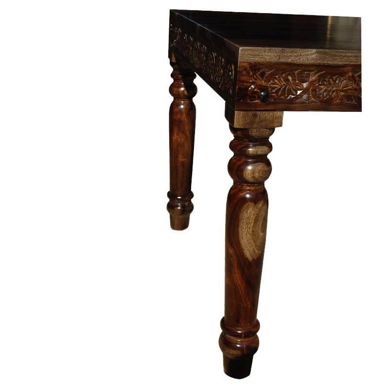 langley hand carved solid wood marbleized dining table
