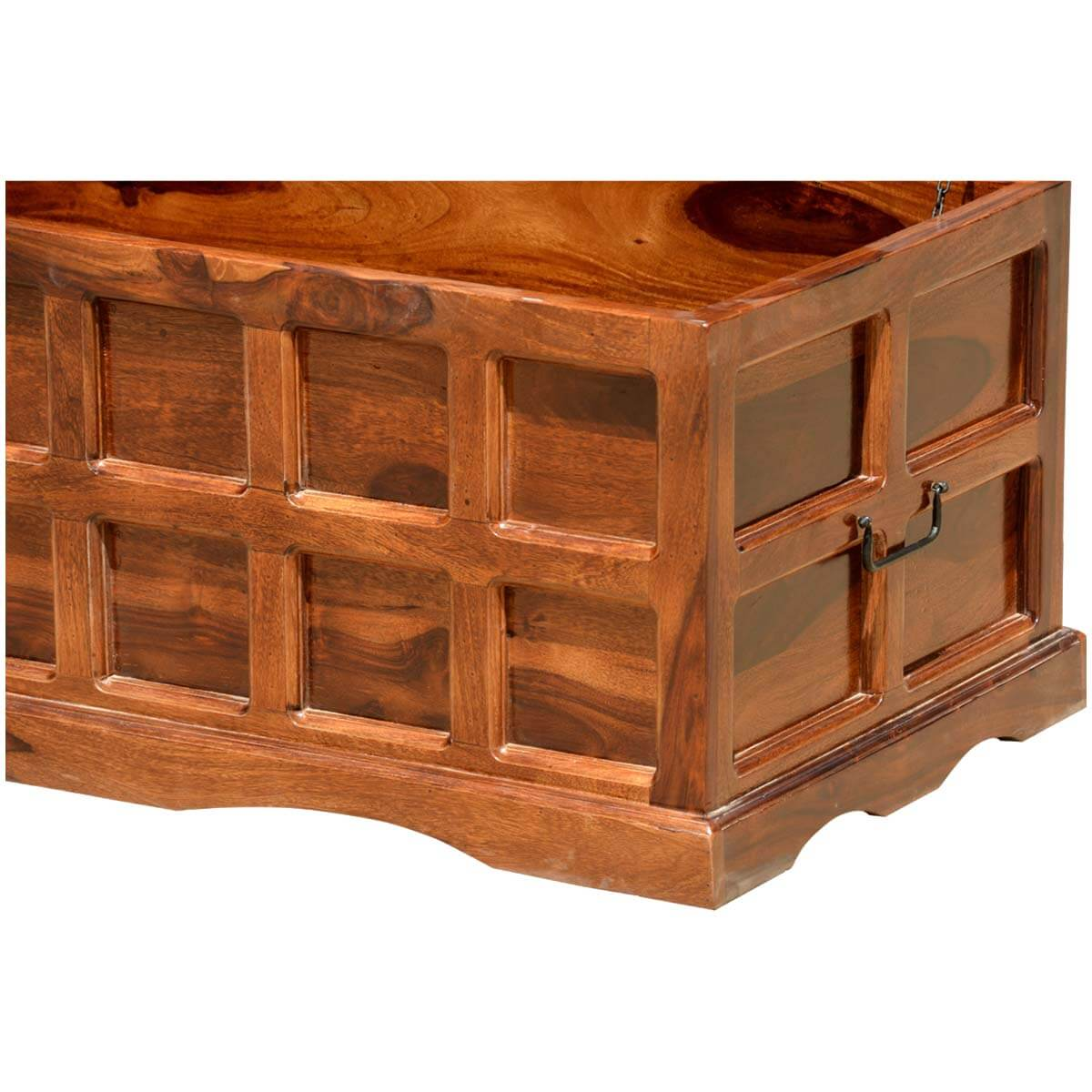 Solid wood handmade traditional coffee table storage box chest Traditional coffee table