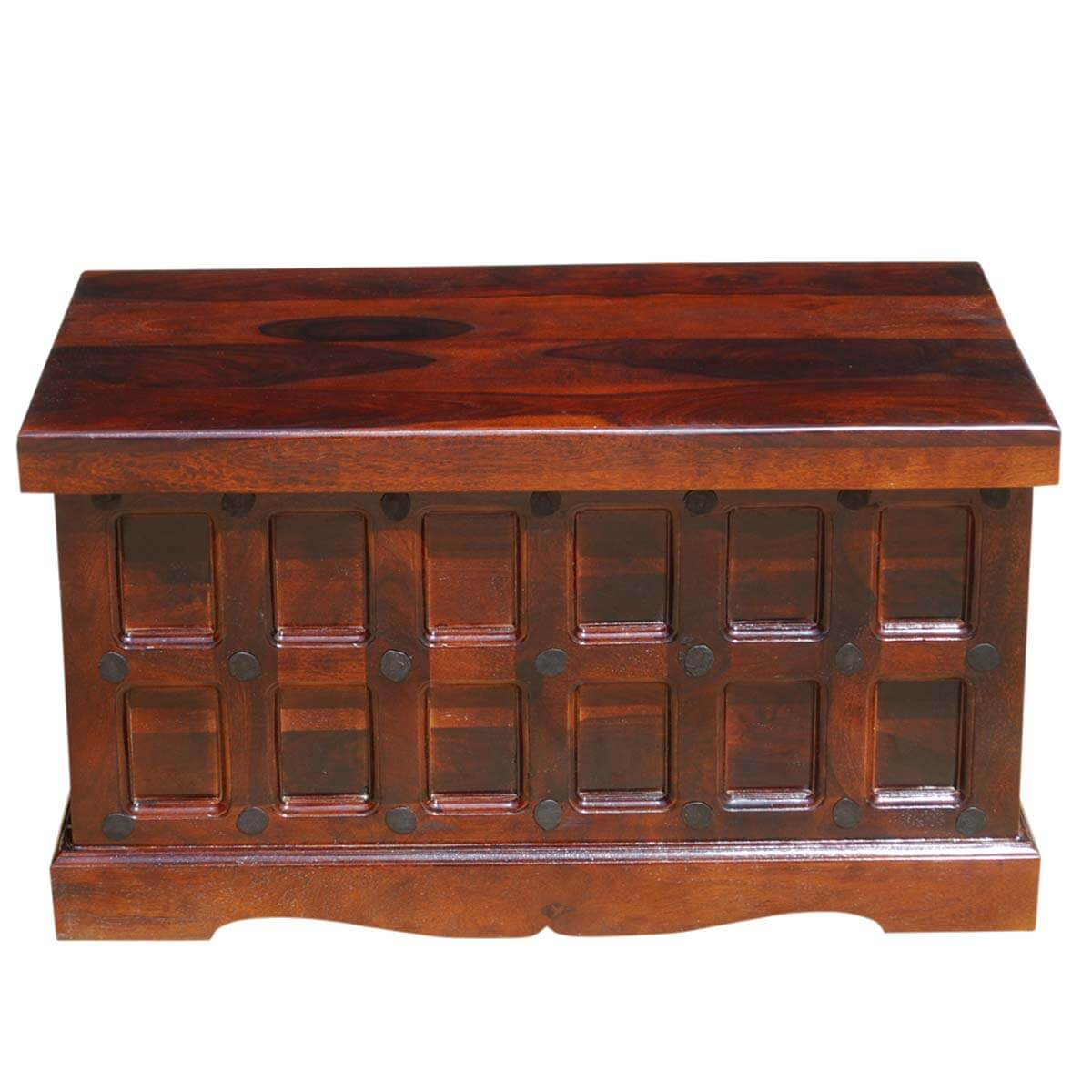 Extra Large Storage Trunk Coffee Table: Solid Wood Trunk Coffee Table Blanket Storage Chest