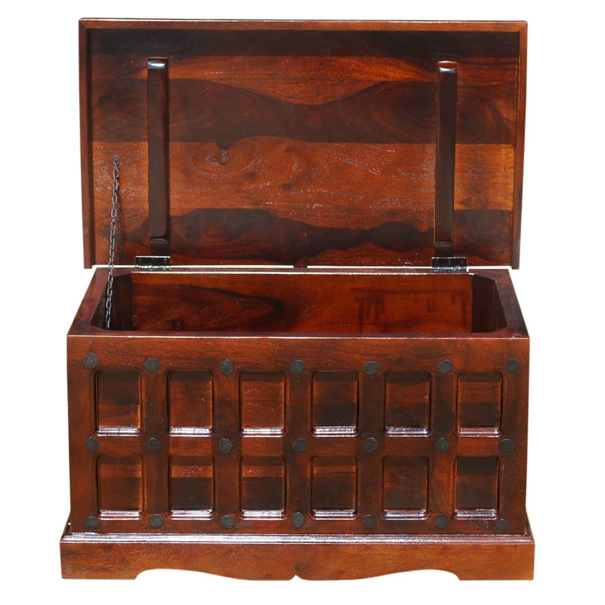 Trunk Coffee Table With Storage: Solid Wood Trunk Coffee Table Blanket Storage Chest