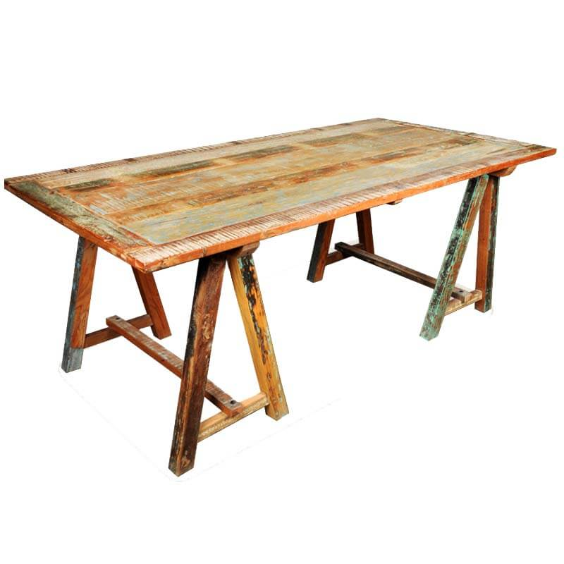 Saw Horse Table For Pinterest