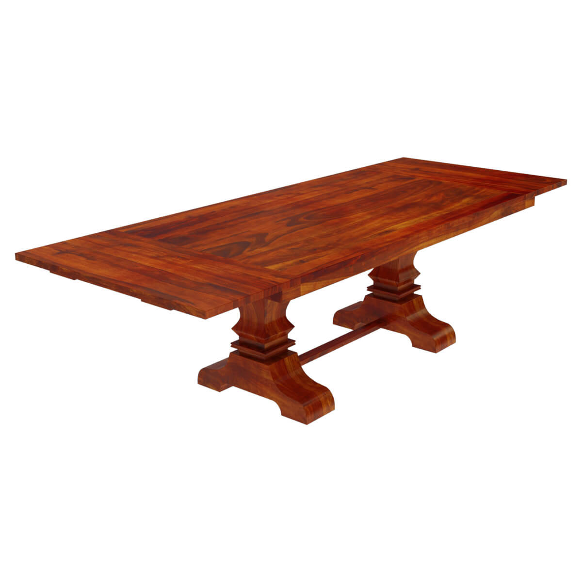 Dining Unfinished Wood Trestle Bench International: Solid Wood Large Trestle Pedestal Dining Table With Extension