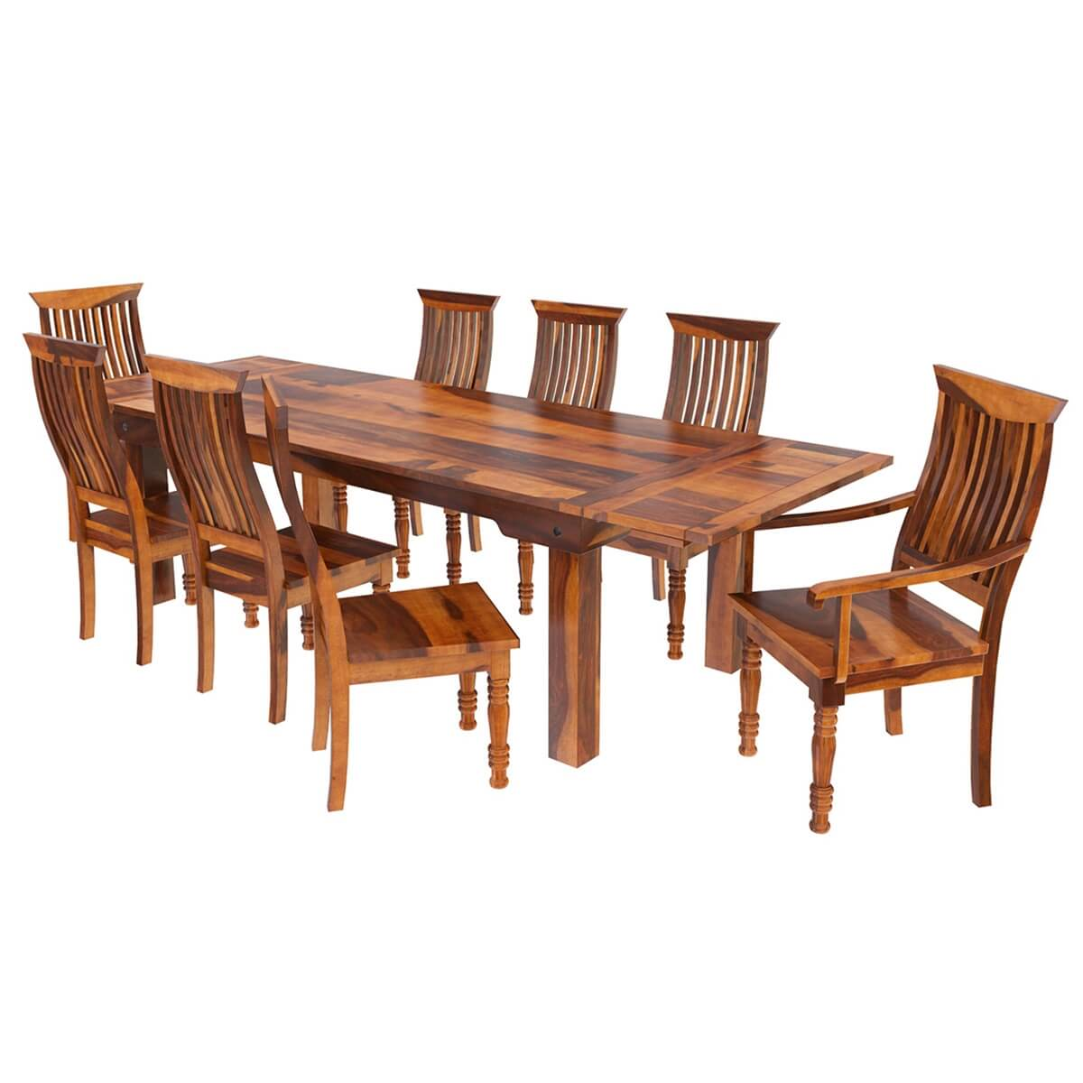 Mediterranean Style Dining Room Sets: Rustic Mediterranean Eco Dining Table & Chair Set W Extensions