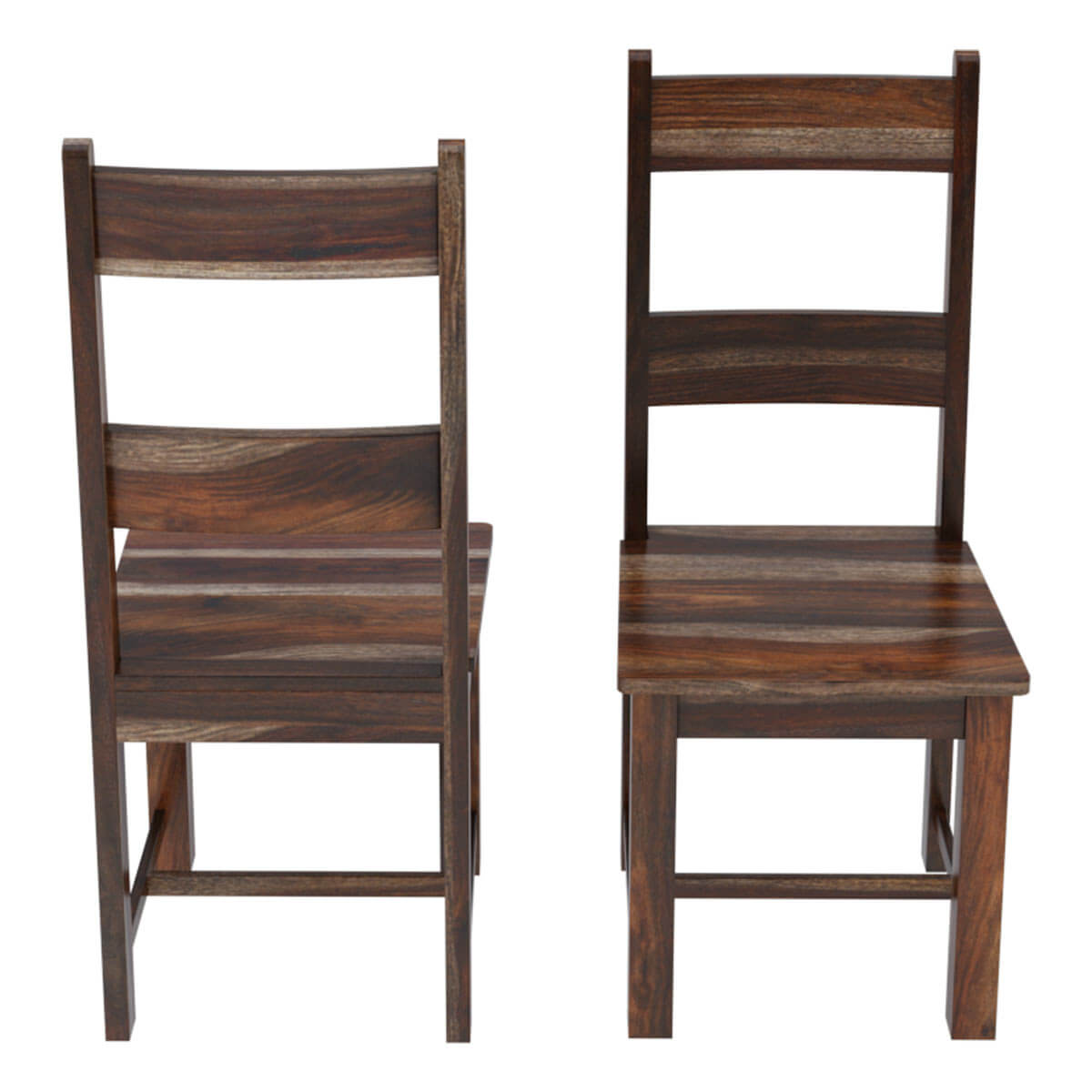 Rustic Mission Santa Cruz Solid Wood Dining Room Set For 4: Alabama Modern Rustic Solid Wood Dining Table And Chair Set