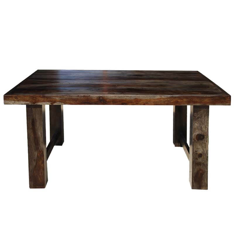 Dallas ranch contemporary solid wood rectangular 60 for Contemporary rectangular dining table