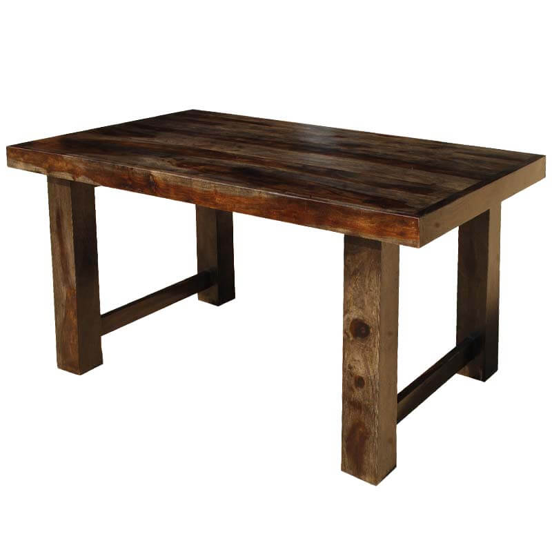 Solid Wood Kitchen Tables: Dallas Ranch Contemporary Solid Wood Rectangular 60