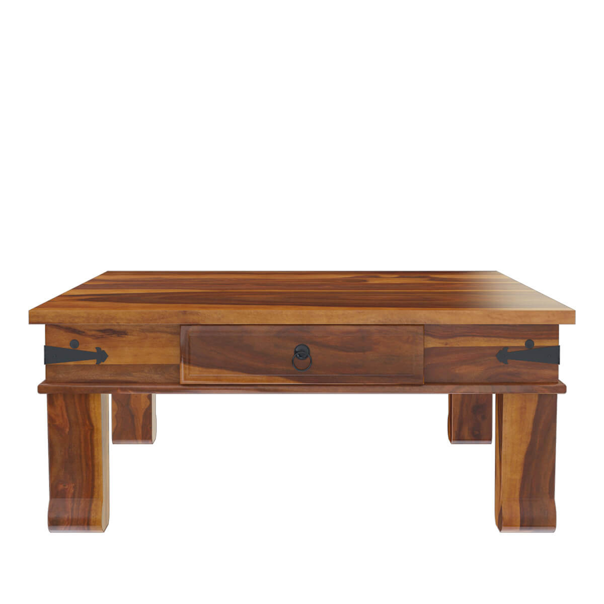 Solid wood square drawer coffee table for Solid wood coffee table