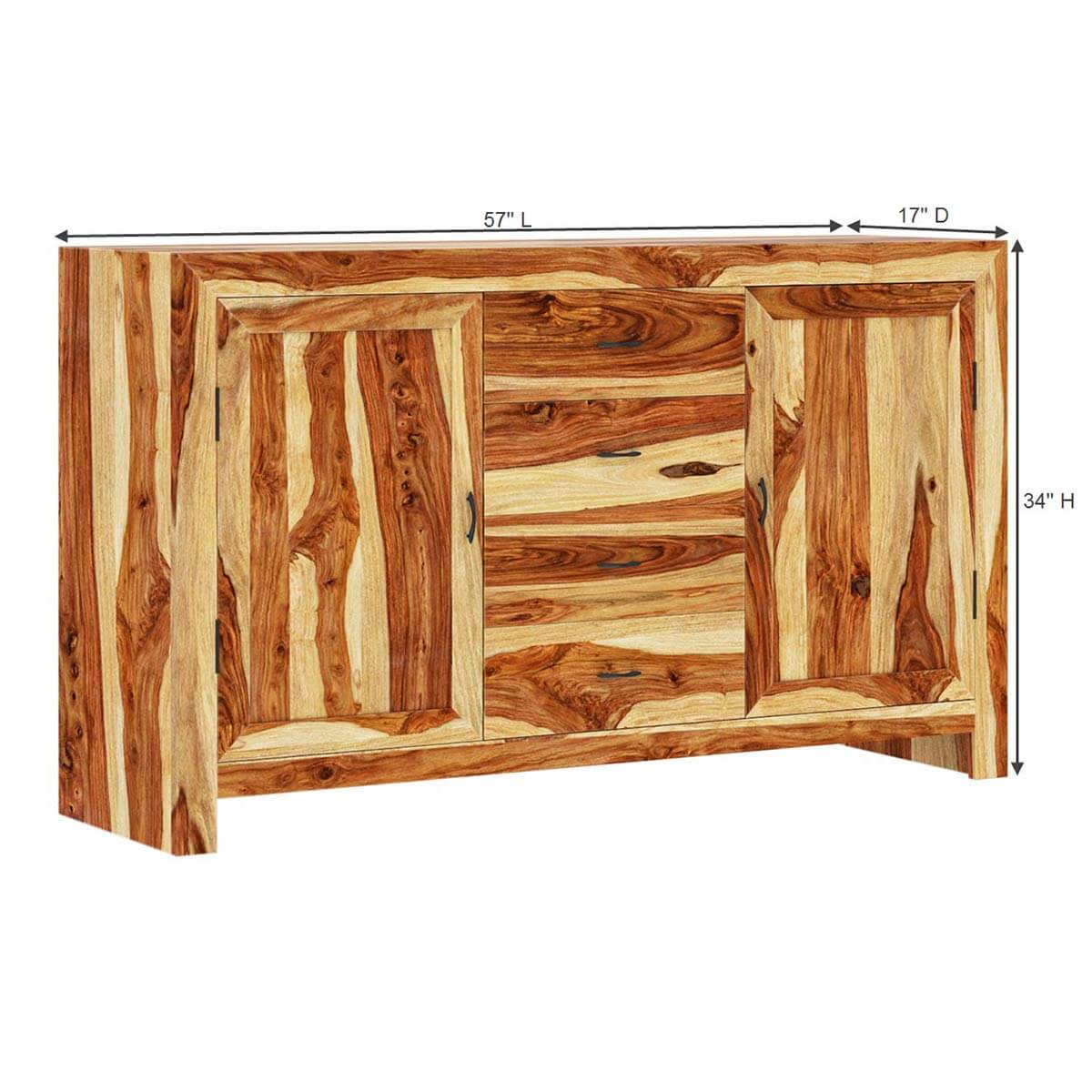 Solid Wood Contemporary Storage Cabinet Buffet Sideboard Furniture . Full resolution  picture, nominally Width 1200 Height 1200 pixels, picture with #BF8C0C.